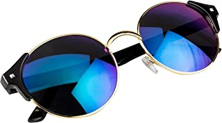 NuVew Mirrored Round Unisex Sunglasses - (Color Variants Available | Medium Size)