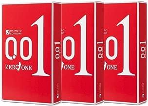 3 x Japan Okamoto 001mm Zero One Thinnest Condoms Medium Size (9 Pieces in total)