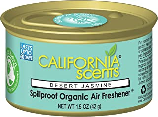 California Scents Spillproof Can Air Freshener Eco-Friendly Odor Neutralizer for Home, Car, Much More, Desert Jasmine, 1.5 oz, 12 Pack