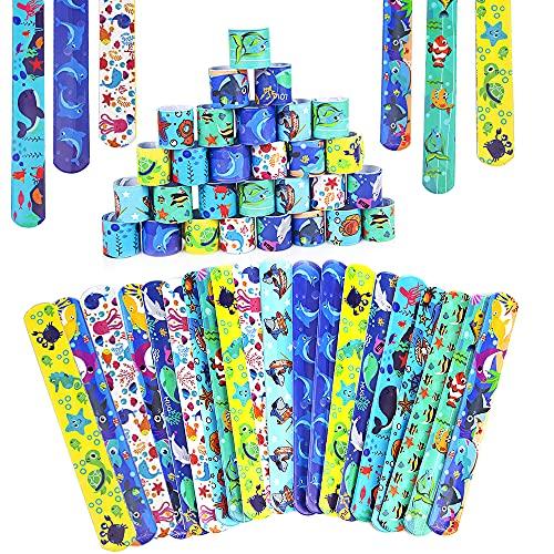 Braccialetti Slap, specool 36Pcs Slap Bracelets Gadget Bracciali a Scatto, Bomboniere Party Supplies Favors per Bambini Ragazze e Ragazzi