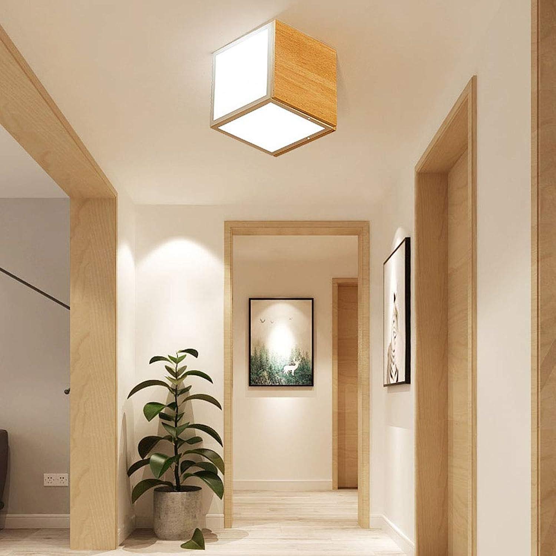 YAYONG Deckenleuchte Kronleuchter Nordic Kreative Wohnzimmer Lampe Geometrie Japanisch Einfache Holz Schlafzimmer Beleuchtung Einzigen Kopf