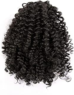 Short Afro Curly Ponytail Hair Piece for Black Women Ponytail Extension Afro Drawstring Curly Ponytail for African American Women Natural Color