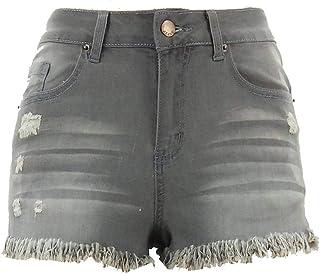3425f13b9b loukou Women Fashion Casual Ripped Holes Tassel High Waist Denim Shorts  Jeans