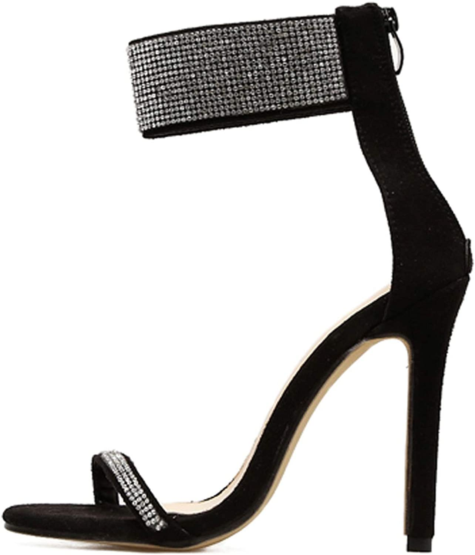 Summer Sparkling Diamond Crystal High Heels Sandals Sexy Club Heels Sandals Women