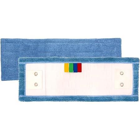 Frange microfibre classique languettes et poches épaisse bleue 40 cm