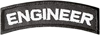 LEGEEON Engineer Tab Badge US Army Tactical Morale Touch Fastener Patch