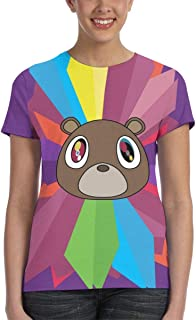 Graduation Bear Women's T-Shirt Adult Tee Shirt 3D Print Shirts Short Sleeve Crew Neck Tops