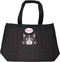 Hello Kitty Creative Typography Design - Tote Bag With Zip