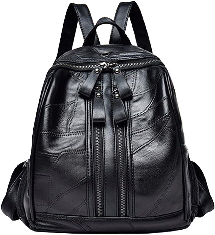 MIMI KING Casual Schulrucksack Für Frauen Echtes Leder Soft Headset Loch Design Mode Multifunktionale Handtasche 25  12  29 cm B07F7TRCJ9  Räumungsverkauf