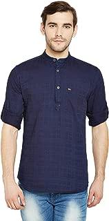 Crimsoune Club Navy Blue Checked Men's Shirt