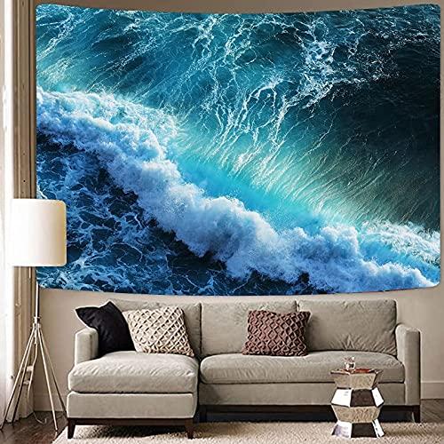 Ola de calor paisaje marino cielo colgante de pared hippie mar tapiz mandala tapiz psicodélico fondo bohemio tela toalla de playa A11 130x150cm
