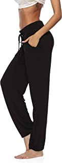 Womens Yoga Pants Wide Leg Comfy Drawstring Loose Straight Lounge Running Workout Legging