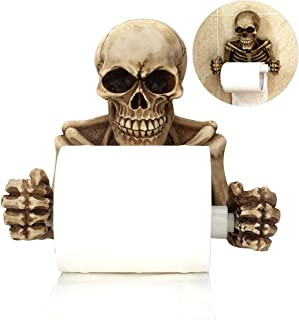 Yeaphy Decorative Toilet Paper Holder with Skeleton, in Spooky Halloween Decorations, Sculptures and New Bathroom Accessories - Bone Dry Skeleton Bathroom Decor - Toilet Paper roll