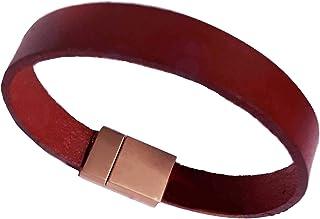 """Bracelet """"Vir"""" Hommes chaîne cordon cuir fermeture magnétique rétractable bracelet Nickel Free Idée tendance Paquet Cadeau"""