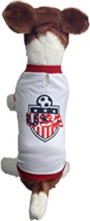 My Pet Boutique Dog Soccer Jersey USA-Pet T-shirt- Made of 100% Polyester-breathable Fabric-makes Dog Comfortable-cozy up Costume to Celebrate your country tradition-enjoy Your Football Team Passion.