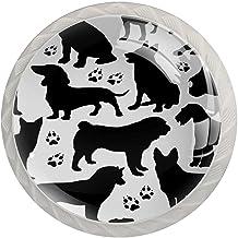 Lade handgrepen trekken ronde kristallen glazen kast knoppen keuken kast handvat,honden naadloos patroon