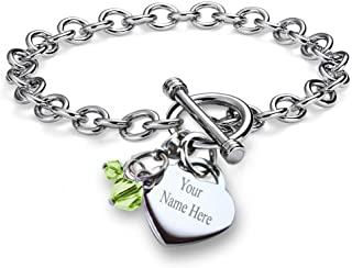 Best sterling silver toggle bracelet with heart charm Reviews