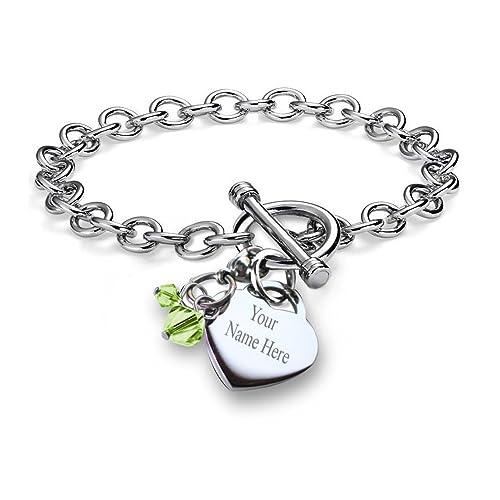 c115f67a917e7 Personalized Charm Bracelet: Amazon.com