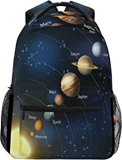 ALAZA Solar System Planet Outer Space Backpack Daypack College School Travel Shoulder Bag