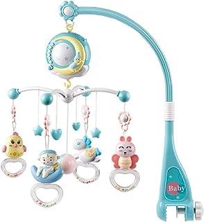 赤ちゃん メリー 音楽オルゴール付き ベビーベッド玩具 星形状のプロジェクター機能 モビールベビー 設置簡単 吊り下げ 手作り メリー ライトリモコンオルゴール 漫画ガラガラ 新生児睡眠玩具