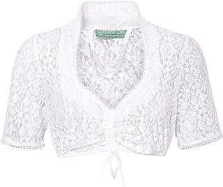 Country-Line Damen Trachten-Mode Dirndlbluse Elisa in Weiß traditionell