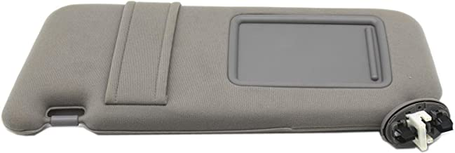 Ezzy Auto Gray Left Driver Side Sun Visor fit for Toyota Camry with Sunroof and Light 2007 2008 2009 2010 2011