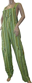 Rigel Funky Striped Cotton Combat Dungarees - Nepalese Brightly Coloured Dungarees