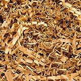 10 KG PresentFill®️ Füllmaterial Natur Polstermaterial aus 100% Recycling Papier für Pakete Geschenkkörbe Geschenke Deko Versand - Verpackungsmaterial zum Verpacken   Füllen   Polstern   Ausstopfen   Dekorieren