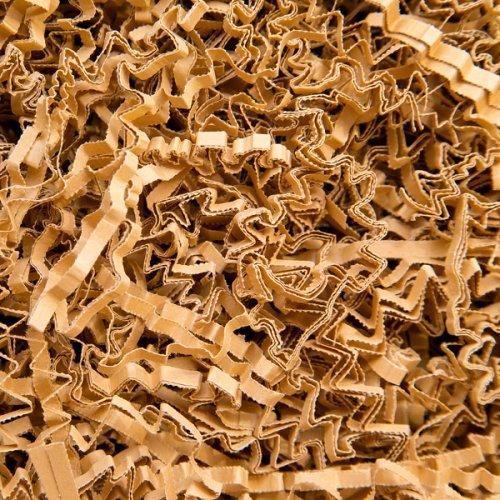 5 KG PresentFill®️ Füllmaterial Natur Polstermaterial aus 100% Recycling Papier für Pakete Geschenkkörbe Geschenke Deko Versand - Verpackungsmaterial zum Verpacken | Füllen | Polstern | Ausstopfen | Dekorieren