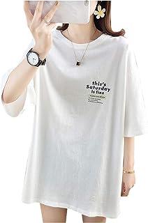koeistore(コウエイストア) Tシャツ 丸首 5分袖 ロゴビッグTシャツ カットソー トップス レディース Y3050