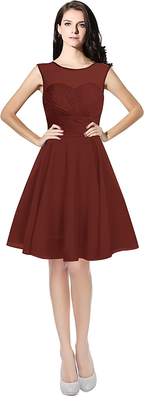 CladiyaDress Women Elegant A Line Sleeveless Short Homecoming Dress Formal Gowns C063LF