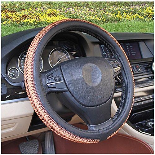 Couverture De Volant De Voiture Été Soie De Glace Enjoliveur De Roue Diamètre 38 Cm Confortable Respirant Mode Four Seasons Universal,Brown