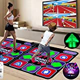 Double Dance Mat, Dance Machine TV Interface LED 3D Running Blanket Yoga Game Machine Silicone Massage Learning Machine HD Quality Light for Children