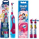 SPAR-SET: Oral-B 1 Braun Stages Power Kids batería-Zahnbürste CLS Kinder DB4.510.K Disney Princess Cinderella + 2er etapas de potencia cabezas del cepillo princesa