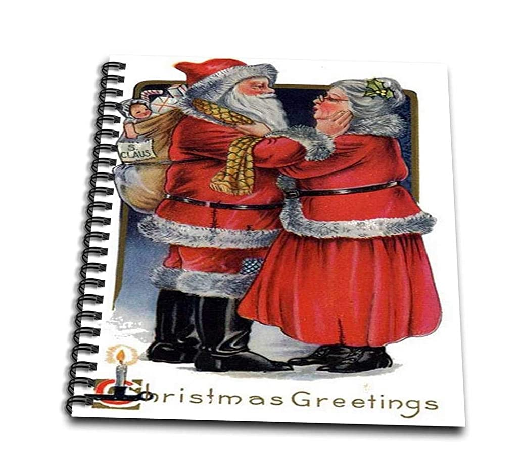 3dRose db_78763_1 Seasons Greetings, Christmas, Christmas Cards, mr and mrs Claus, Xmas-Drawing Book, 8 by 8