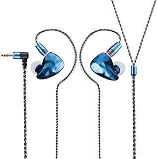 in-Ear Monitor Earphones, ikko oh1 Crystal Sound Quality Singer Earbuds Rich bass IEMs with 2 -pin Interchangeable Wired Lightweight Instrument Separation Fidelity Headphones