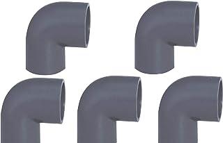 Oryginalne złączki rurowe EXCOLO PVC Ø 50 mm kątowniki do kolanek złączki T (5 x kąt 90°)