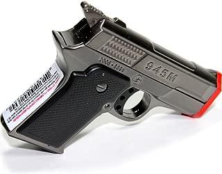 9MM Hand Gun Pewter Gun Metal Color Dual Jet Flames Refillable Butane Torch Lighter 3 Inch