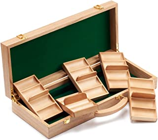 GSE Games & Sports Expert 300/500 Capacity Premium Solid Wood Poker Chip Case ONLY. Casino Wooden Poker Chip Case with Woo...