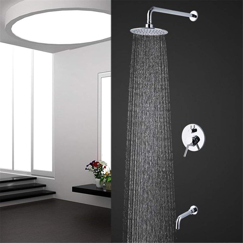Moontang Wand-Dusche Wasserhahn mit Einem einzigen Griff mit Wasser und Dusche Duschkopf Dusche (Farbe   -, Gre   -)