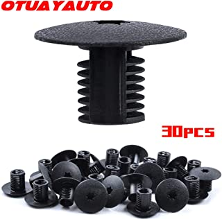 OTUAYAUTO 30PCS Nylon Bumper Fender Liner Fastener Rivet Retainer Clips Push Type for Dodge Chrysler Jeep Plymouth