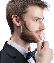 Krevia Plastic Beard Shaping Template and Beard Comb All-In-One Tool for Men (Assorted Colour)