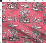 Toile De Jouy, Chinoiserie, Asiatisch, Rosa, Melone Stoffe