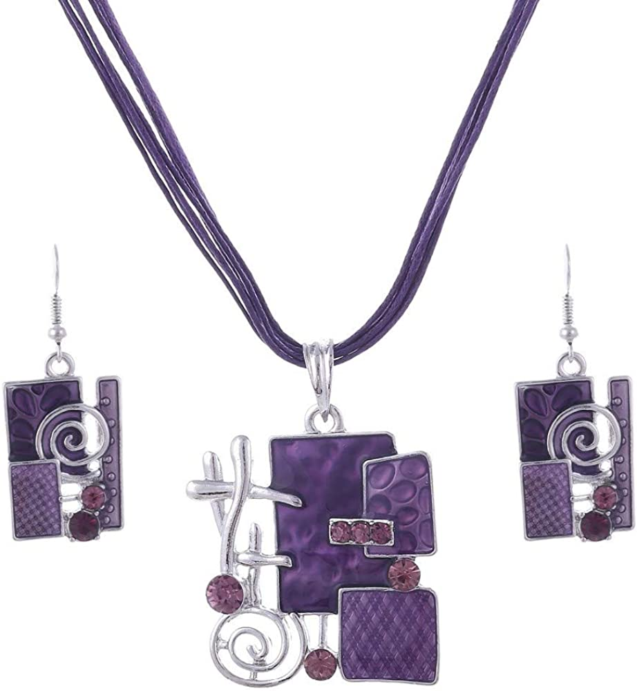 Colorful Multi Layers Necklace Earring Women Set Pendant OFFicial site Ena Max 78% OFF For