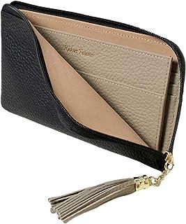 RICKERS 長財布 薄い財布 レディース L字ファスナー 薄型 本革 ニュアンスカラー 5色