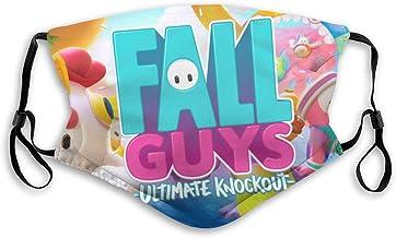 YRLMW Fall Guys: Ultimate Knockout Cover Dusk Adjustable Ear Loops Comfortable Face Mask Balaclava Black