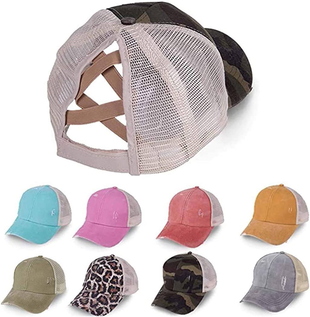 Baseball Cap Ponytail Criss Cross Messy Caps Dad Hat Trucker Hat