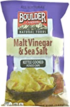 product image for Boulder Canyon All Natural Kettle Cooked Potato Chips Malt Vinegar and Sea Salt -- 5 oz (Pack of 2)