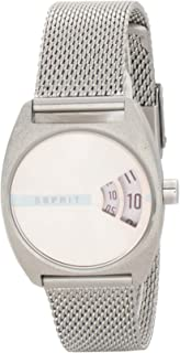 Esprit Womens Quartz Watch, Analog-Digital Display and Stainless Steel Strap