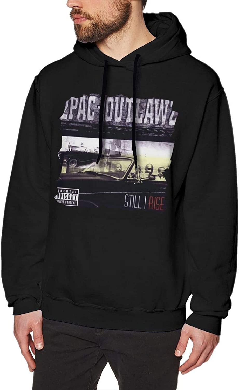 Avis N 2Pac Still I Rise Mens Hoodies Sweater Black